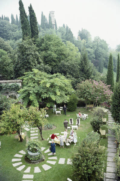 Guest Photograph - Villa Cipriani by Slim Aarons