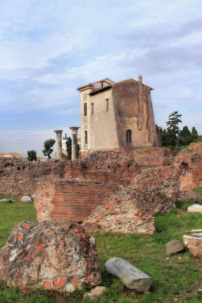 Photograph - Villa Di Livia Or House Of Livia And Augustus On Palatine Hill In Rome Italy by Angela Rath