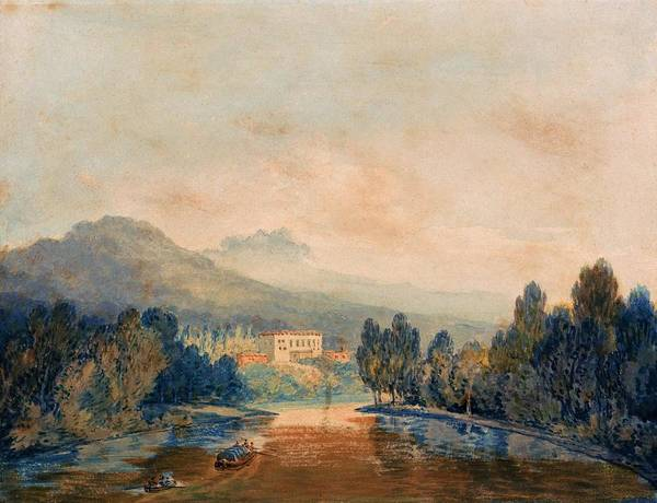 Wall Art - Painting - Villa Salviati On The Arno - Digital Remastered Edition by William Turner