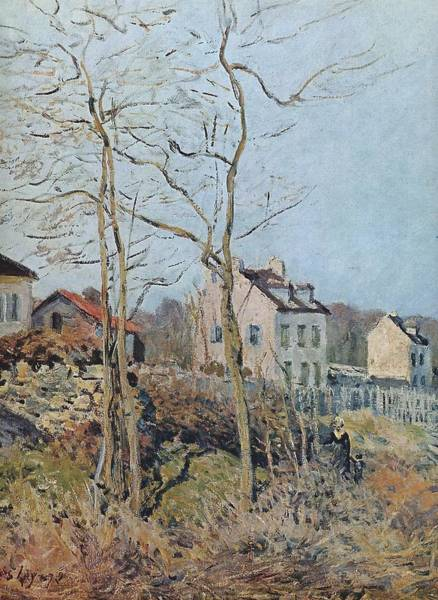 Wall Art - Painting - Village At The Edge Of The Forest, Sun, 1872 by Alfred Sisley