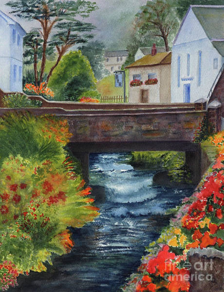 Painting - The Village Bridge by Karen Fleschler