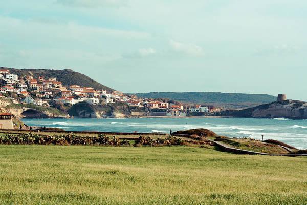 Sardinia Photograph - Village By Sea by Annfrau