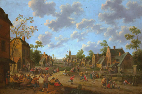 Wall Art - Painting - Village Fair by Joost Cornelisz Droochsloot