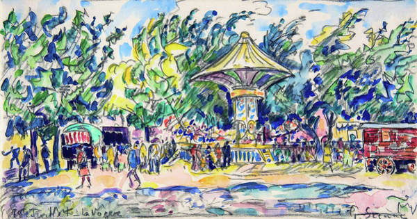 Neo-impressionism Wall Art - Painting - Village Festival, The Vogue - Digital Remastered Edition by Paul Signac