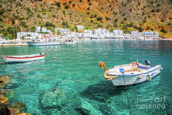 Wall Art - Photograph - Village In Crete, Greece by Delphimages Photo Creations