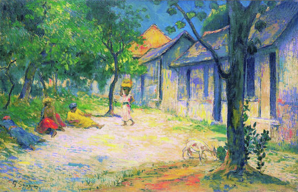 Wall Art - Painting - Village In Martinique - Digital Remastered Edition by Paul Gauguin