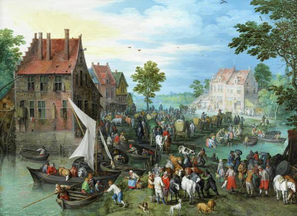 The Shepherdess Wall Art - Painting - Village Landscape by Jan Brueghel the Elder