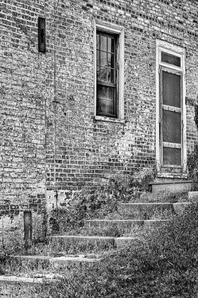 Photograph - Village Post Office Bw by Susan Candelario