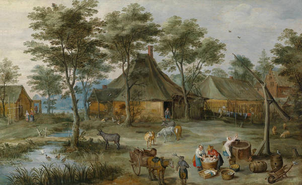 Painting - Village Scene At The Well by Joos de Momper