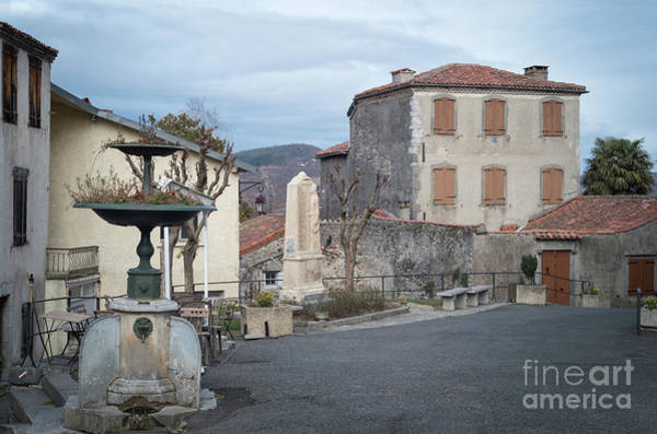 Photograph - Village Square, South France by Perry Rodriguez
