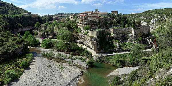 Wall Art - Photograph - Village Surrounds By The River, Cesse by Panoramic Images