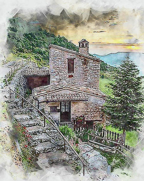 Painting - Villages Of Tuscany - 01 by Andrea Mazzocchetti