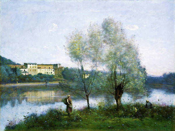 Wall Art - Painting - Ville D Avray - Digital Remastered Edition by Jean-Baptiste Camille Corot
