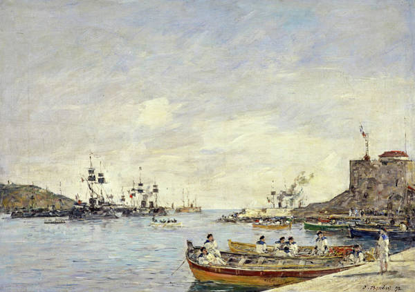 Wall Art - Painting - Villefranche Harbour, 1892 by Eugene Louis Boudin