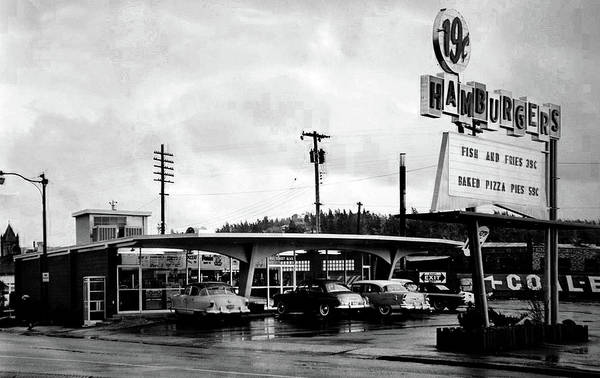Photograph - Vintage Panda Drive-in - 1959 by Doc Braham