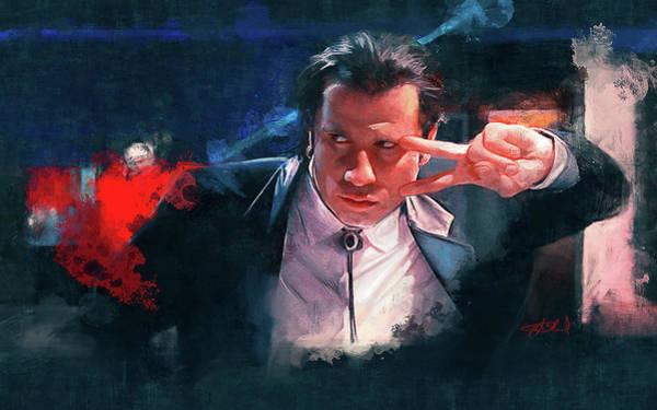 Reservoir Dogs Painting - Vincent Dances The Twist - Pulp Fiction by Joseph Oland