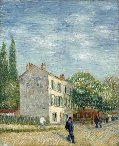 Wall Art - Painting - Vincent Van Gogh - Restaurant Rispal At Asnieres 1887 by Vincent van Gogh