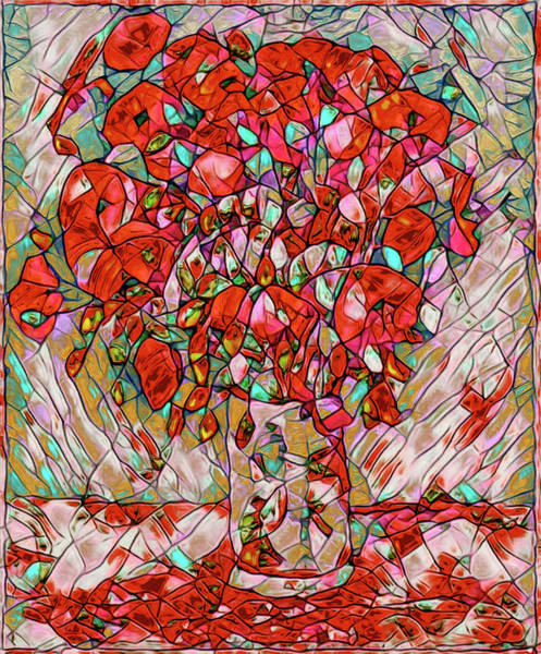 Photograph - Vincent Van Gogh Vase With Poppies by Carlos Diaz