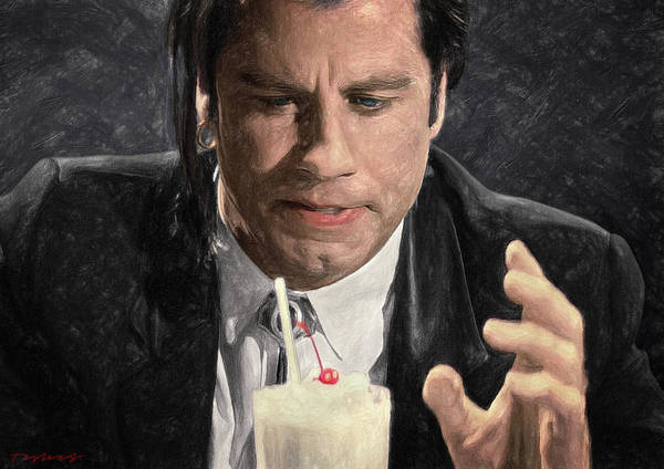 Wall Art - Painting - Vincent Vega  by Zapista Zapista