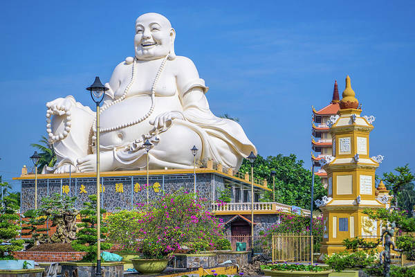 Photograph - Vinh Trang Temple Buddha by Gary Gillette