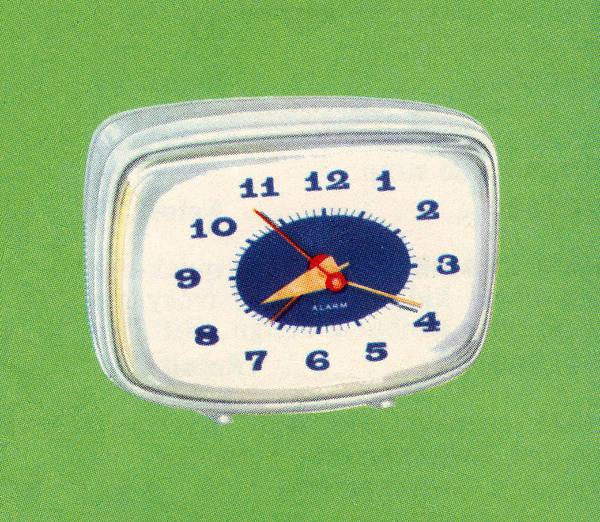 Archival Digital Art - Vintage 1950s Alarm Clock by Graphicaartis