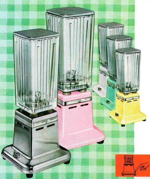 Cooking Digital Art - Vintage 1950s Kitchen Blenders by Graphicaartis
