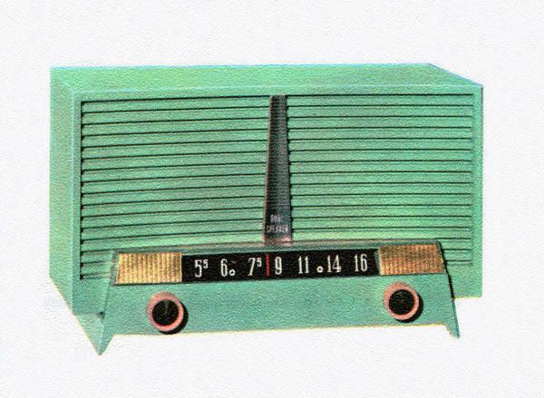 Archival Digital Art - Vintage 1950s Portable Radio by Graphicaartis