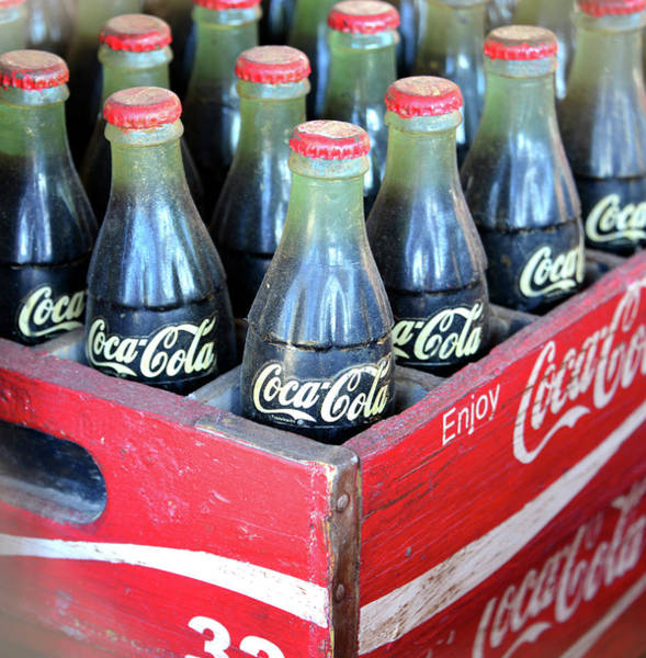 Wall Art - Photograph - Vintage 32 Count Coke Case by David Lee Thompson