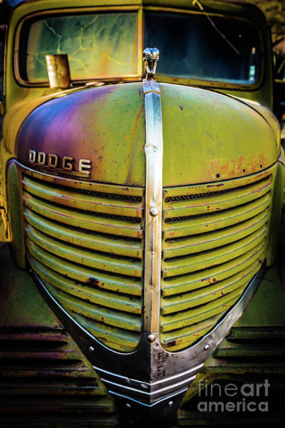 Wall Art - Photograph - Vintage Abandoned Dodge Truck by Edward Fielding