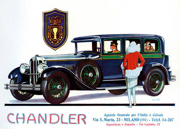Wall Art - Painting - Vintage Advertisement For Chandler Motor Cars by Italian School