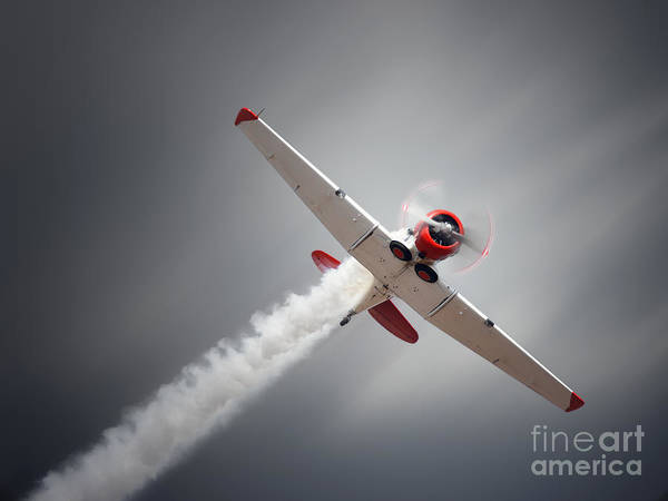 Wall Art - Photograph - Vintage Airplane At High Speed by Johan Swanepoel