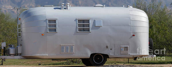 Photograph - Vintage Airstream Travel Trailer Tonto National Forest by Edward Fielding