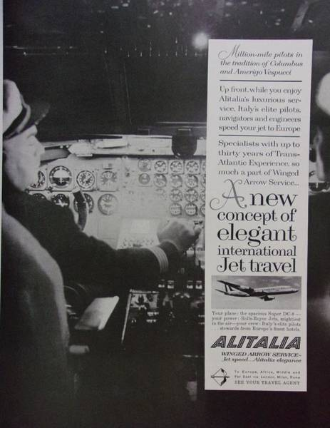 Alitalia Photograph - Vintage Alitalia Airline Advertisement by Mary Beth Welch