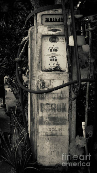 Wall Art - Photograph - Vintage Antique Gas Pump by Edward Fielding
