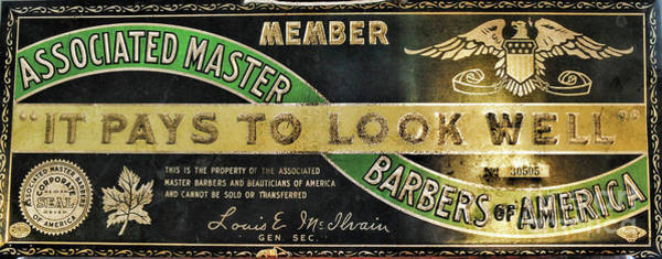 Wall Art - Photograph - Vintage Associated Master Barber Sign by Paul Ward