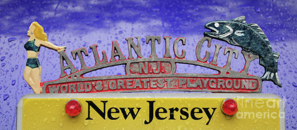Wall Art - Photograph - Vintage Atlantic City License Plate Topper by Paul Ward