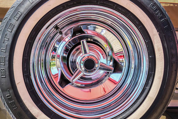 Photograph - Vintage Automobile Wheel Abstract by Gary Slawsky