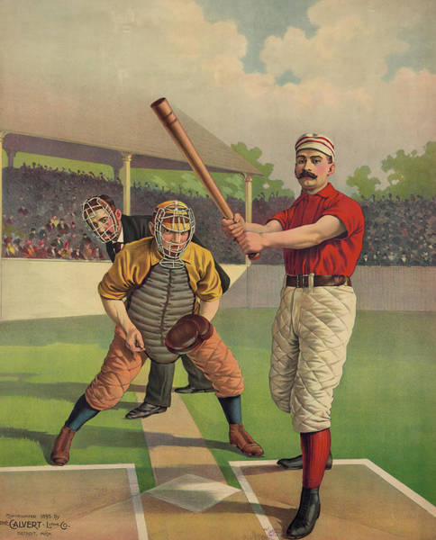 Wall Art - Mixed Media - Vintage Baseball Poster 1894 by Library Of Congress