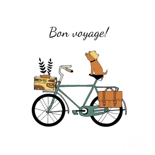 Wall Art - Digital Art - Vintage Bicycle Illustration by Nicetoseeya
