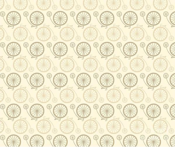 Wall Art - Digital Art - Vintage Bicycle Pattern by Vectorbaba