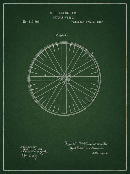 Drawing - Vintage Bicycle Tire Patent by Dan Sproul