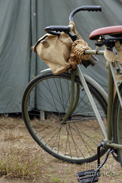 Photograph - Vintage Bicycle World War II  by Edward Fielding