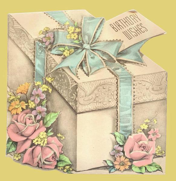 Quaint Drawing - Vintage Birthday Present by Marilyn Hunt