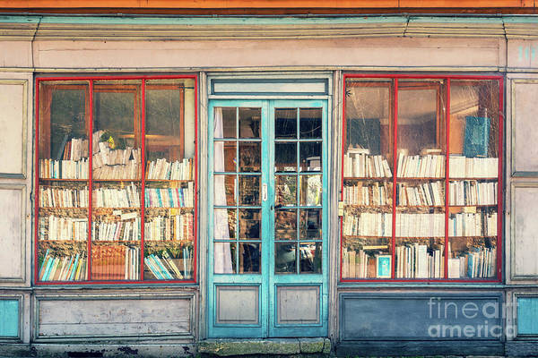 Book Shelf Photograph - Vintage Bookstore by Delphimages Photo Creations
