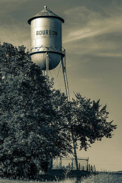 Photograph - Vintage Bourbon Tower - Route 66 Sepia by Gregory Ballos