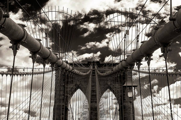 Vintage Brooklyn Bridge New York City Art Print