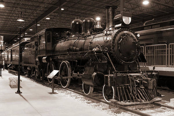 Canadian Culture Photograph - Vintage B&w Passenger Train And Station by Buzbuzzer