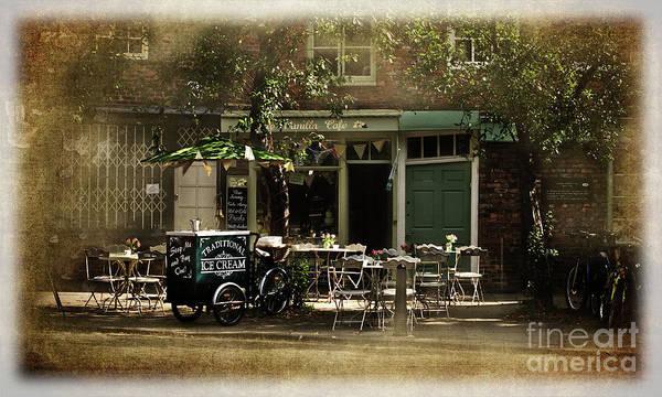 Digital Art - Vintage Cafe In York Uk by Liz Alderdice