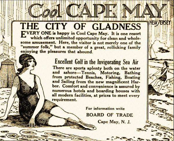 Photograph - Vintage Cape May Ad by Digital Reproductions