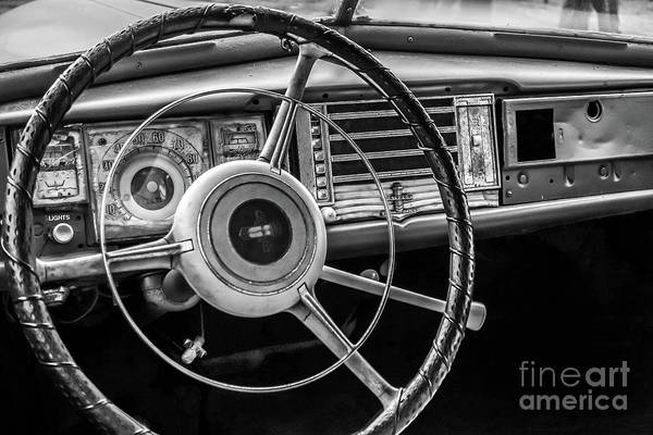 Photograph - Vintage Car Dashboard by Edward Fielding